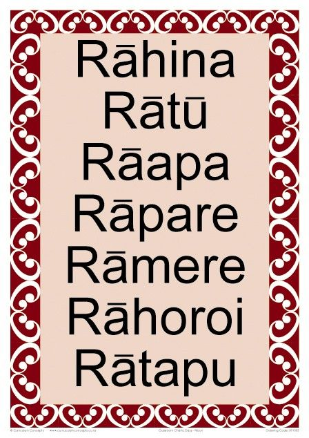 Days of the Week Maori Chart | Te Reo Maori Resources