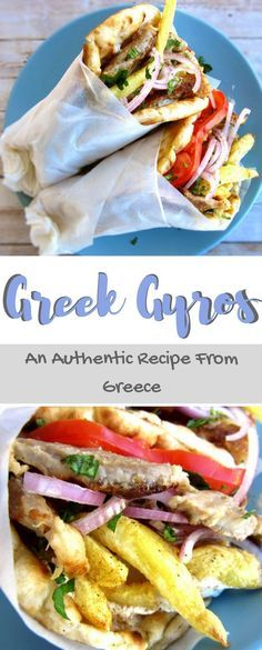 The Authentic Greek recipe for making Pork Gyros as we make it in Greece. With a complete step by step tutorial on how to make the Gyros, the Tzatziki, and the wrapping method. #Gyros,#Recipe,#Pork,#Greek,#Authentic