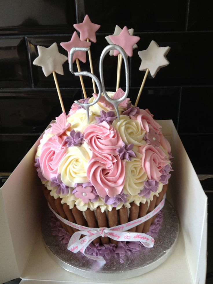 Th Birthday Giant Cup Cake Ideas