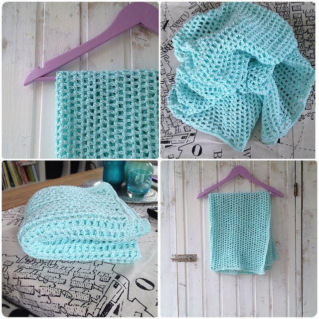 Grid blanket crochet Gallerfilt Babyblanket crochet