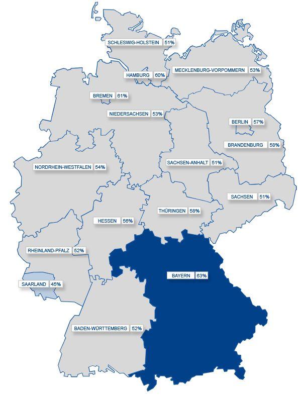 Smartphone & Lederhose: Nutzung mobiler Endgeräte in Deutschland – Bayern führend (Social Media Atlas 2012, interaktive Karte von faktenkontor)