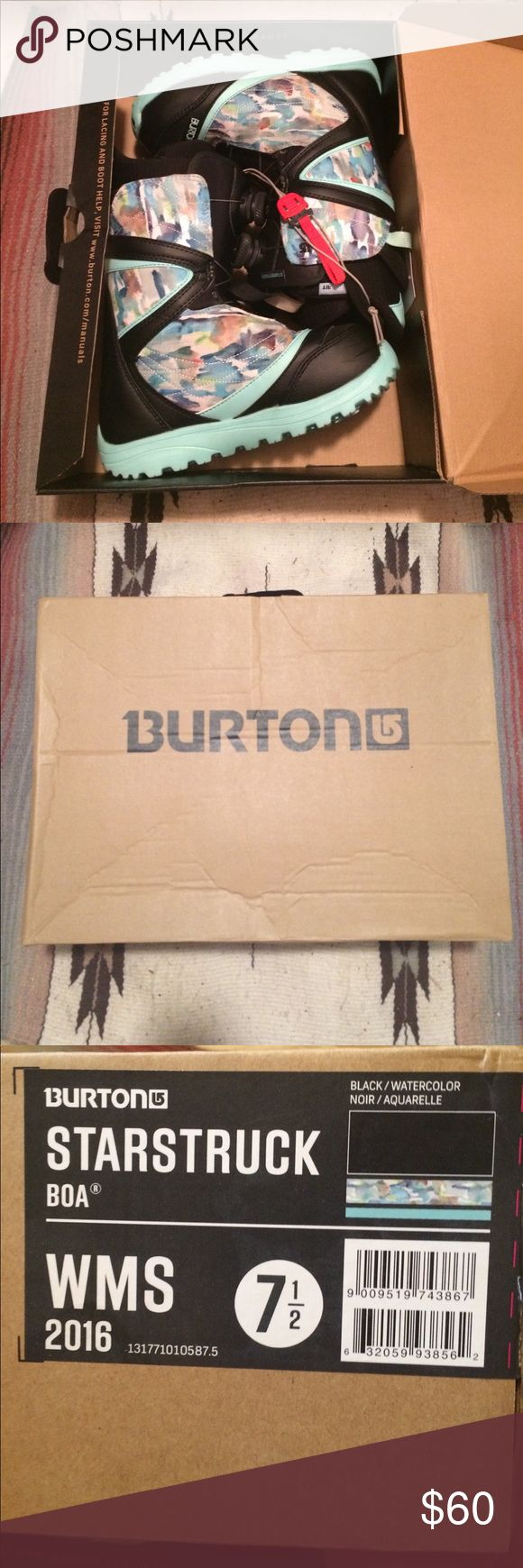 Burton Snowboard Boots Burton Boa Lacing snowboarding boots. Size 7.5. Used one season, very lightly used though! Originally $210.00!! Burton Other