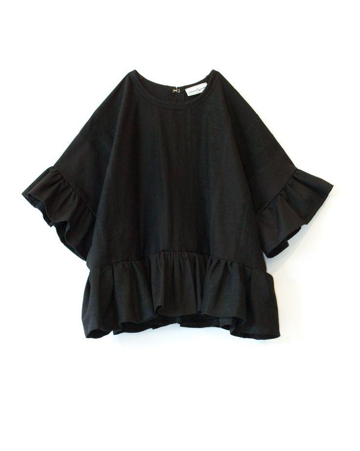 Tara Light - Noir Peplum Top. Buy at ShopFable.co