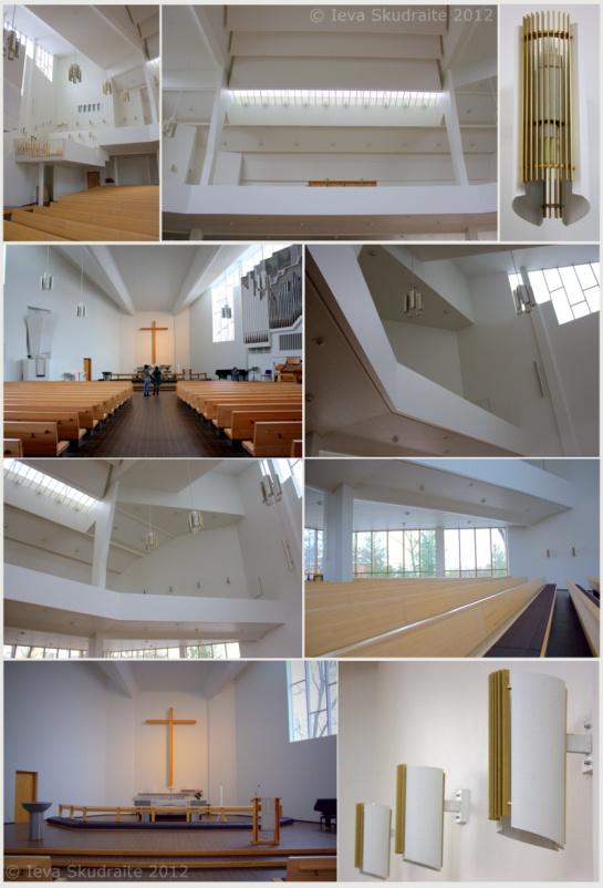 Alvar Aalto Church of the Cross in Lahti, Finland.