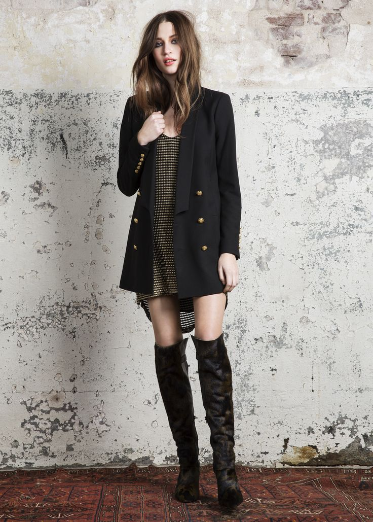 Jaguar jacket, Boil dress & Sophia over the knee boots. #Jaguar #jacket #Boil #dress #Sophia #ST