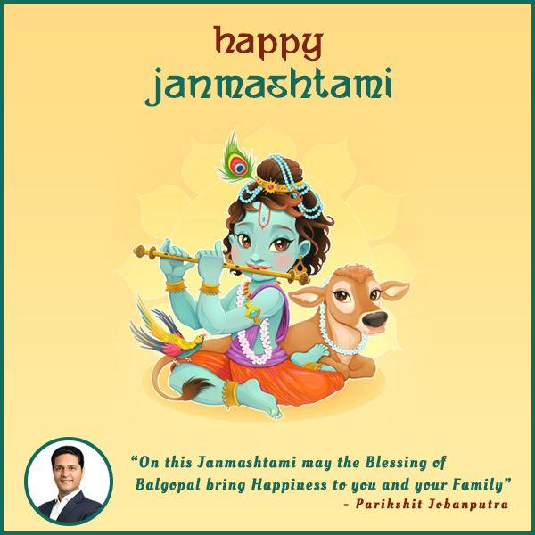 On the very special occasion of #KrishnaJanmashtami, #ParikshitJobanputra wishing you a very happy Janmashtami.