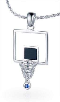 Our quirky Backboard & Rim Pendant #basketball #jewelry