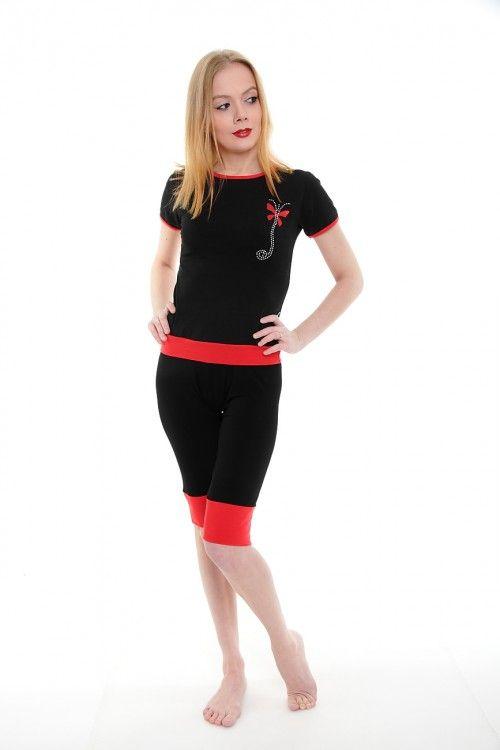 Пижама А1786 Размеры: S, M, L, XL Цвет: черный Цена: 908 руб.  http://optom24.ru/pizhama-a1786/  #одежда #женщинам #пижамы #оптом24