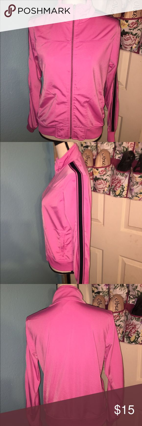 Women Footlocker Pink Sweater This is a pink and black sweater. It has been used but it is still in great condition. No flaws. FEEL FREE TO MAKE AN OFFER!!! (: Women Footlocker Sweaters