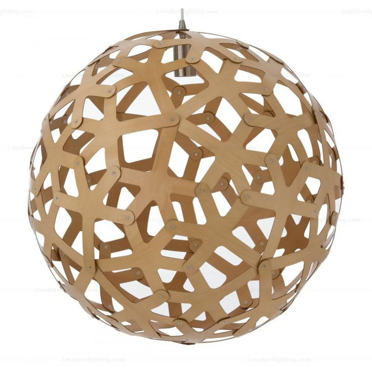 US Imports Basswood Coral Suspension Lamp
