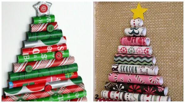 Vendita Regali Di Natale Riciclati.Lavoretti Di Natale Con La Carta Riciclata Dei Regali Regali Natale Carta Per Avvolgere I Regali