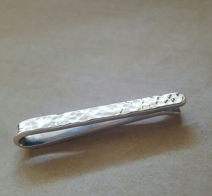 Tie Clip - CLASSIC HAMMERED - Sterling Silver