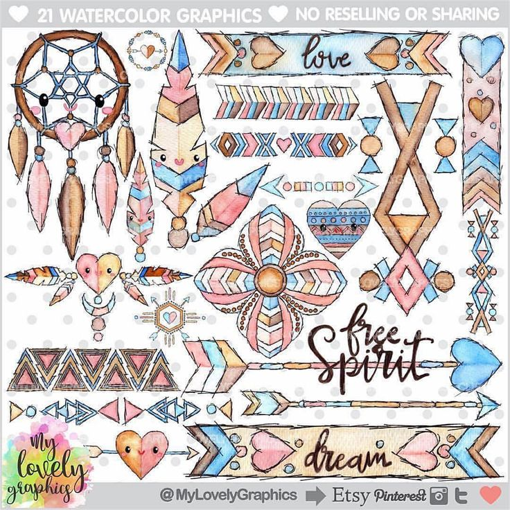 Boho Style ✨Watercolor technique with a sketch touch! Tribal Clipart Personal and Small Commercial Use  Find it: www.MyLovelyGraphics.Etsy.com #etsy #scrap #scrapbooking #scrapbook #party #partytime #partysupplies #partydecorations #planner #plannerlove #plannercommunity #plannergoodies #happyplanner #kawaii #planners #plannergeek #plannergirl #planneraddict #planneraccessories #plannerjunkie #planwithme #makingcards #cardmaking #clipart #graphicdesign #graphic #watercolor
