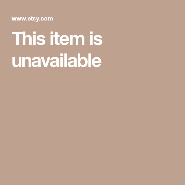 This item is unavailable
