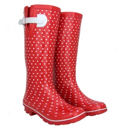 Red Petite Womens Gumboots