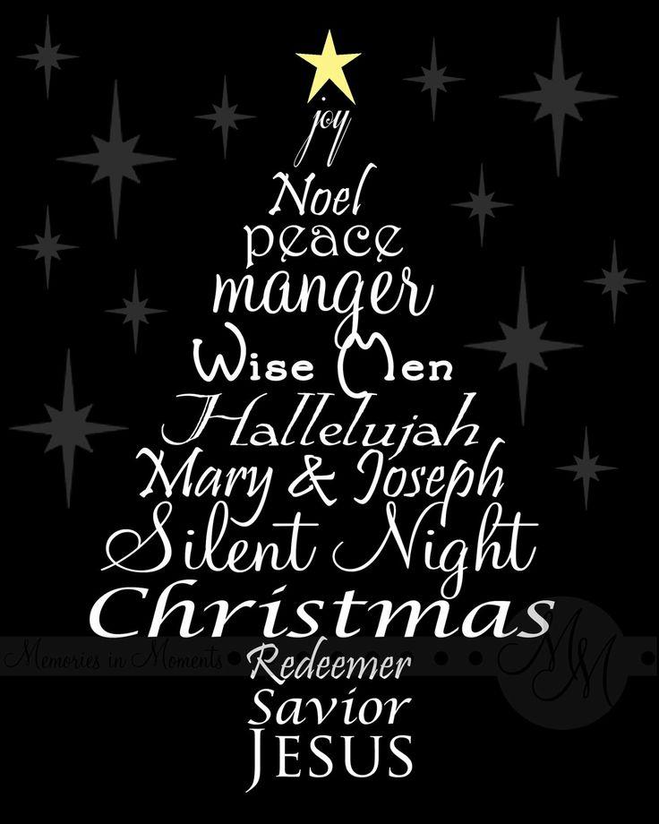 Christmas Digital Word Art Black by MemoriesinMoments on Etsy