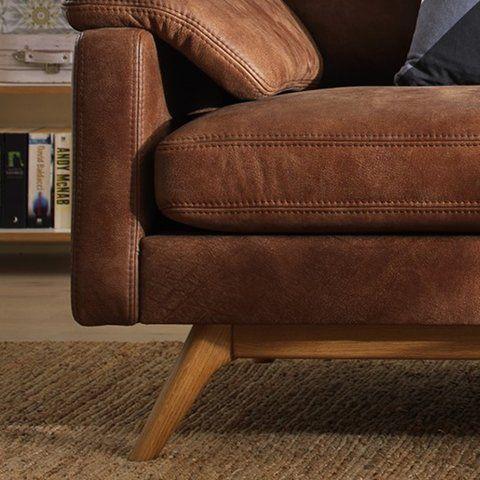 SOFFA EPOK, brunt läder