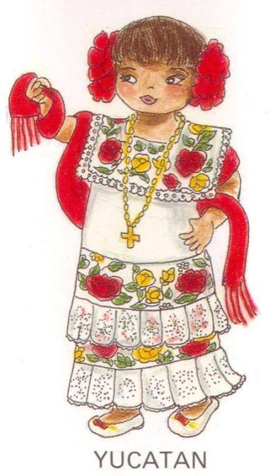 Vestido tradicional maya de Yucatán - Buscar con Google