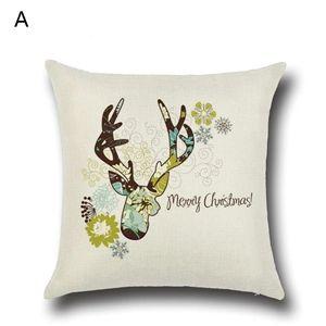 (EU Lager)Weihnachten Kissenbezüge Weihnachtshirsch Design