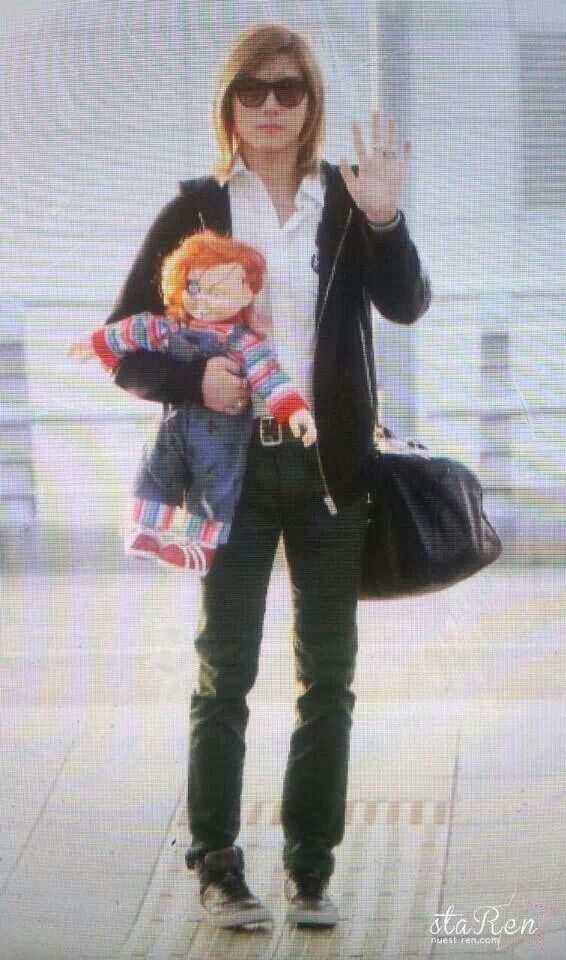 Ren with his lovely chucky ^^
