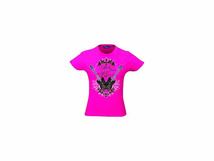T Shirt Hannah Montana Rock true to Your Heart, pink, Größe L