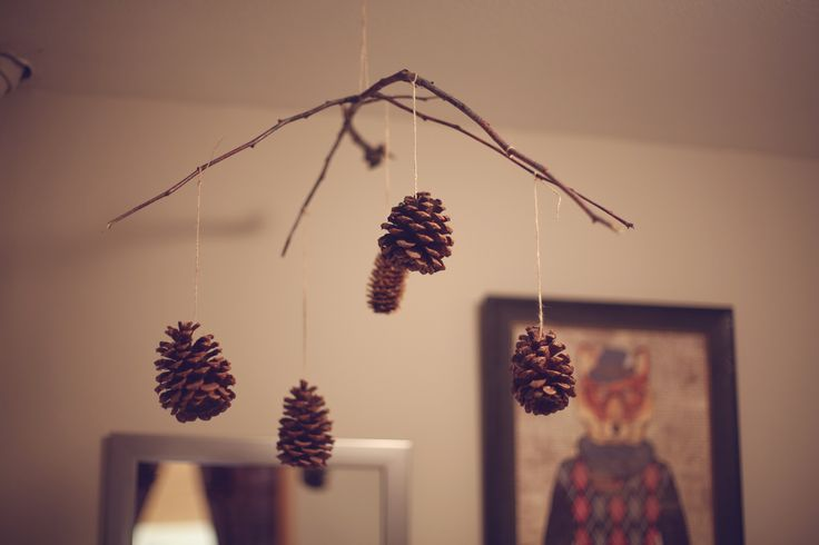 Pinecone Mobile #woodland nursery {made by me}