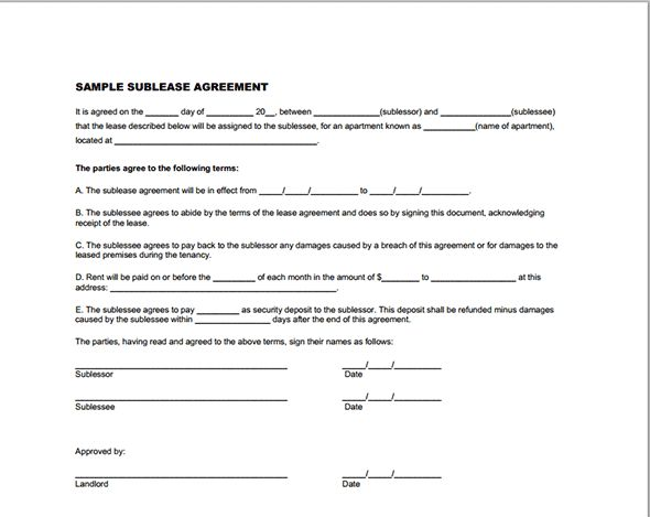372 Best Printable Agreement Images On Pinterest | Rental Property