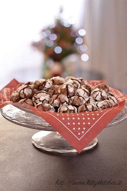 Italian recipes...   Chocolate Crinkles