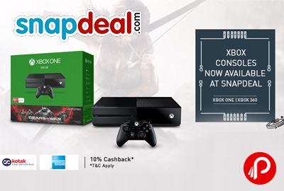 @snapdeal #offers #XBOX 1TB Console with Forza 6 Bundle in Rs. 38990. Extra 10% Cashback Using Kotak/ING Debit,Credit & Net Banking. 10% Cashback Kotak Coupon Code – KOTAK10  http://www.paisebachaoindia.com/get-xbox-1tb-console-with-forza-6-bundle-in-rs-38990-snapdeal/