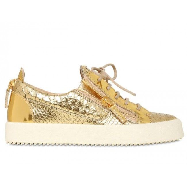 Giuseppe Zanotti Gold Low Top Sneakers | Reese Unity Library