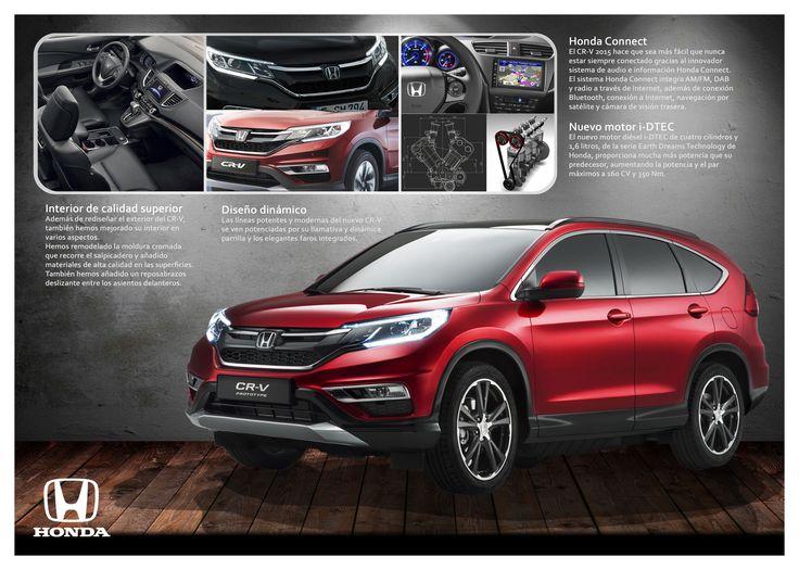 """Páginas 2 y 3 del catálogo del nuevo Honda CRV """"Presentación del coche""""."""