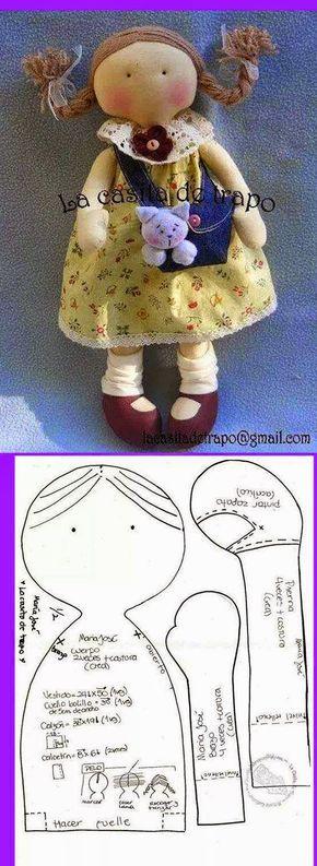 Felt doll. So cute!