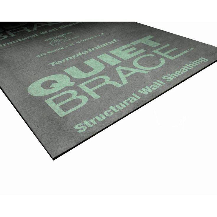 Quietbrace 1 2 In X 4 Ft X 8 Ft R 0 30 Sound Deadening