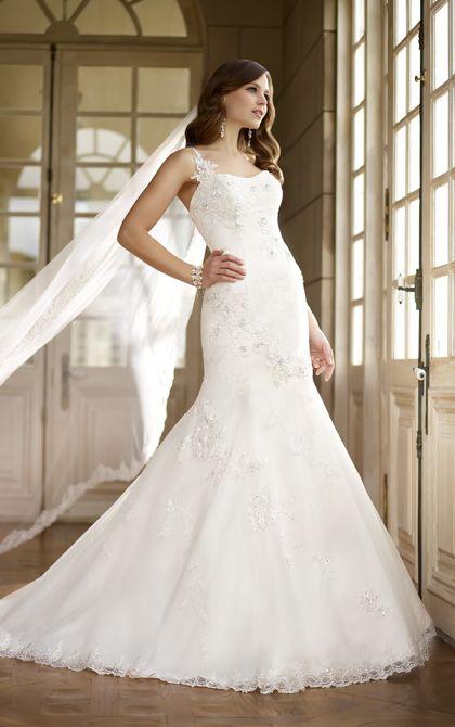 Белый русалка свадебные платья 2015 милая кружева одно плечо, босоножки, длиной до пола суд поезд Свадебное Платье на заказ хк