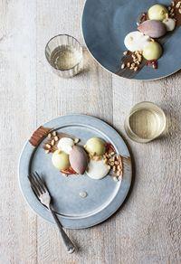 Avocado & chilli, horchata foam