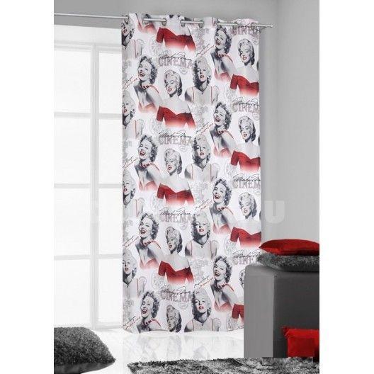 Bielo červené závesy Marilyn Monroe