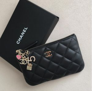 designer coin purse wiie  Chanel Black Casino Coin Purse