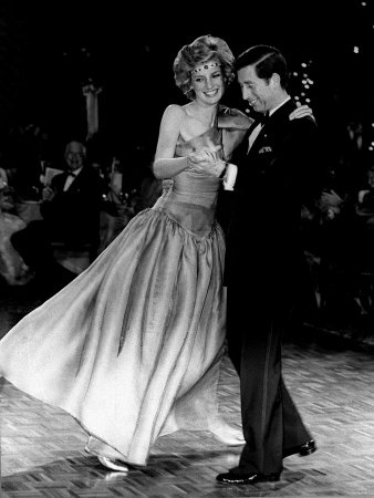 Diana, Princess of Wales with husband Charles, Prince of Wales...graceful, even joyful!