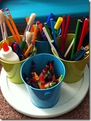 school supply table top caddy