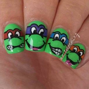 Ninja Turtles! Gianna Instagram photos @nailstorming
