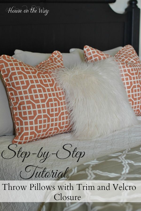 diy throw pillows with velcro closure master bedrooms crafts and bedrooms