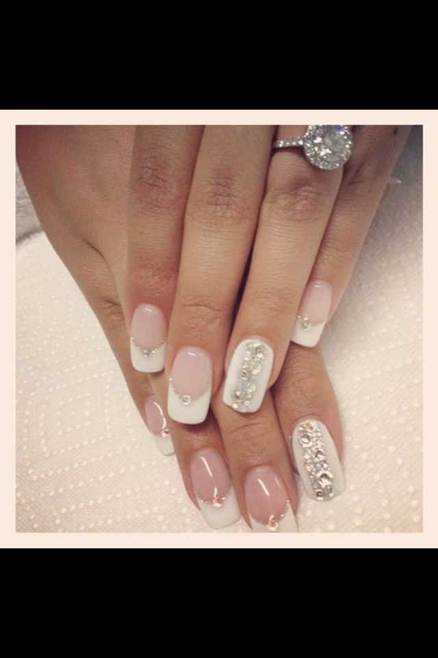 42 Best Wedding Nails Images On Pinterest