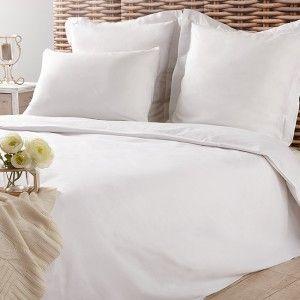 Housse de couette blanche 2 personnes - Linge de lit - Linge de maison | GiFi