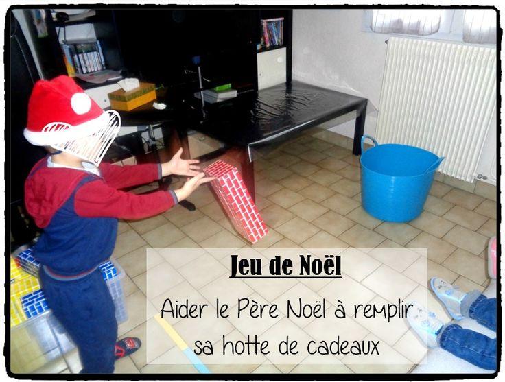 jeu de noel, aider le pere noel à remplir sa hotte de cadeaux, jeux enfant de noel, animation noel