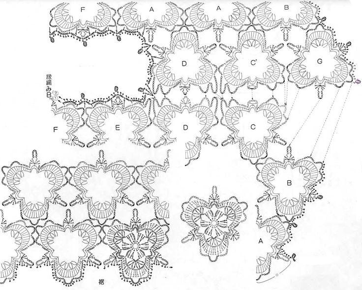 Схема соединения узоров