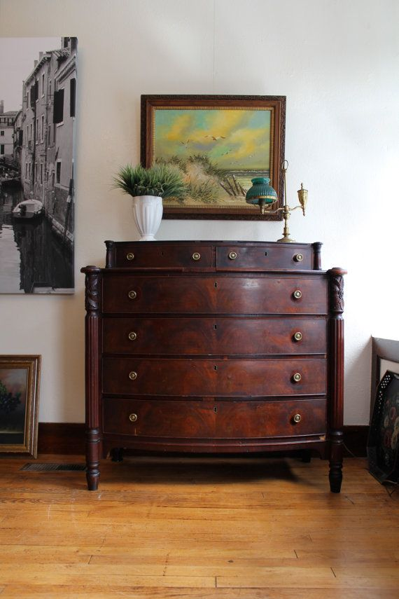 Antique Empire Dresser by JulesVernonVintage on Etsy   595 00. 36 best American Empire Furnishings images on Pinterest   Antique