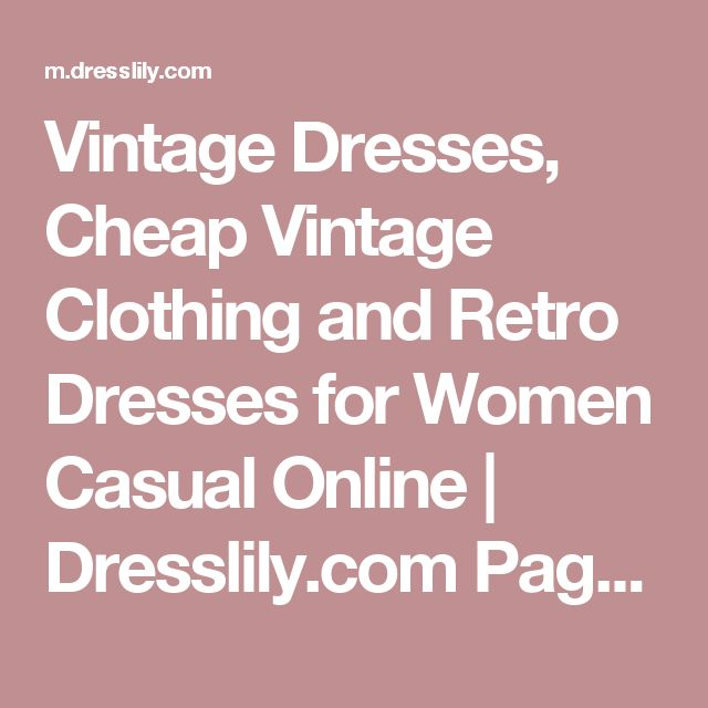 Vintage Dresses, Cheap Vintage Clothing and Retro Dresses for Women Casual Online | Dresslily.com Page 10