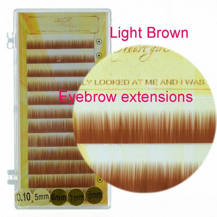 5mm 6mm 7mm 8mm Light Brown Eyebrow Extension Professional Makeup Tools Faux Mink Eyebrow Extensions Makeup For Permanent Eyebrow Novalash Eyebrow Tint From Candyeyelashes, $2.64| Dhgate.Com