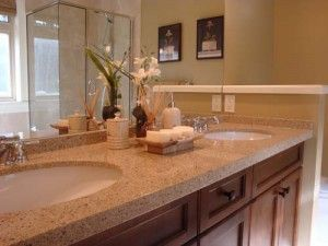 17 best images about quartz on pinterest quartz tiles - How to decorate a bathroom counter ...