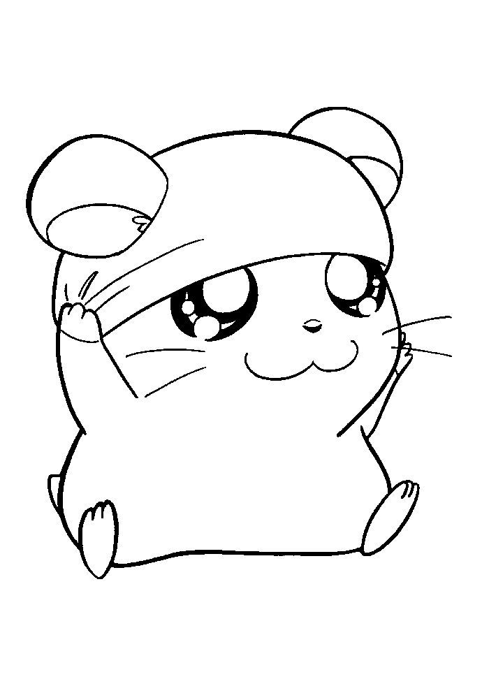 Chibi Hamster Coloring Pages In 2020 Animal Coloring Pages Cute Coloring Pages Cute Drawings